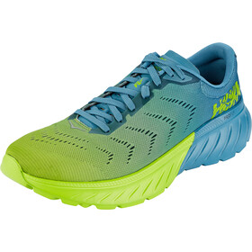 Hoka One One Mach 2 Running Shoes Herre storm blue/lime green